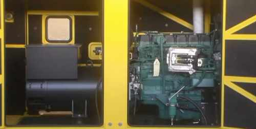Volvo Diesel Generator TAD734GE cold start and change filters
