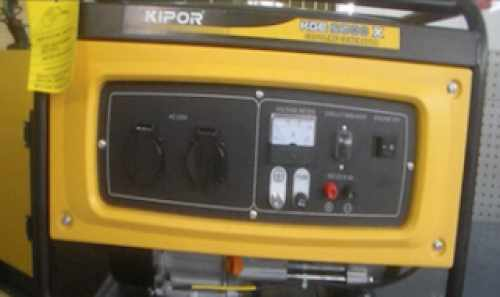 Kipor KGE2500 first start and change filters