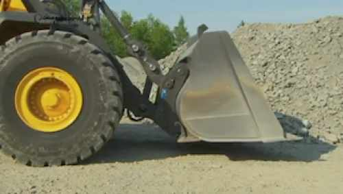 Volvo wheel loader L220H quick fit