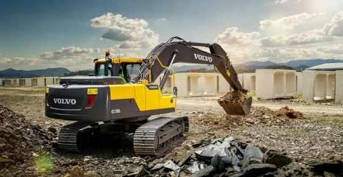 THE NEW VOLVO EC210D IS A PROFITABLE PERFORMANCE MACHINE